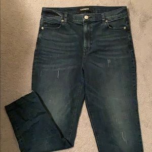 NWOT high rise girlfriend jeans